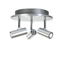 Cato 3 spotlight LED, aluminium 22,5cm