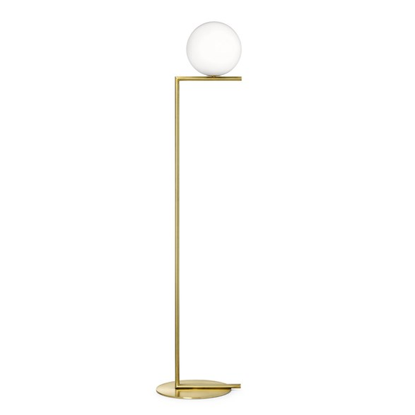 IC Lights F1 golvlampa, mässing 135cm