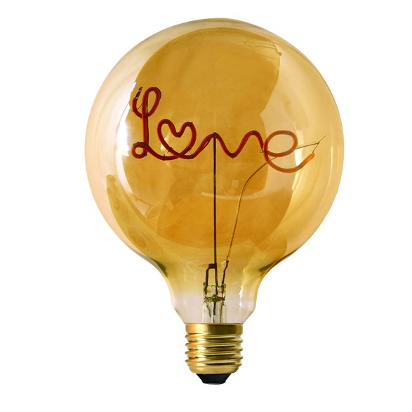 Filament-LED 2,5W words love standing, 125mm