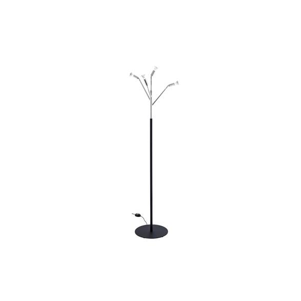 Kvist 4 golvlampa, förnicklad mässingsvart 190cm