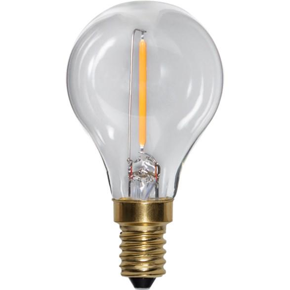 LED lampa E27 shine filament 4,5cm 2,8W | StayHome.se
