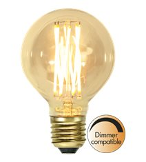Filament-LED glob 3,7W(22W) E27, 80mm vintage gold