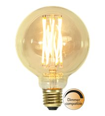 Filament-LED glob 3,7W(22W) E27, 95mm vintage gold