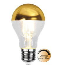 Filament-LED normal 4W(30W) E27, toppförspeglad guld dimbar