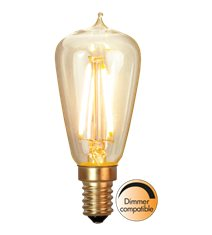 Edison-LED 1,7W(15W) E14, soft glow dimbar 12-Pack