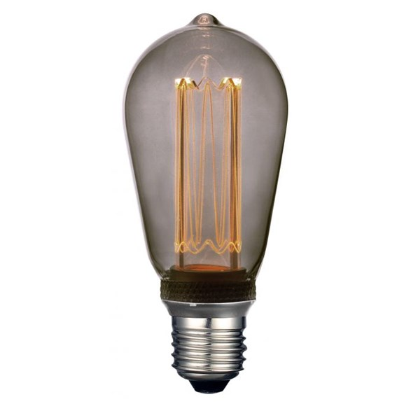 Future LED edison 3,5W E27, 64mm (rökfärgad)